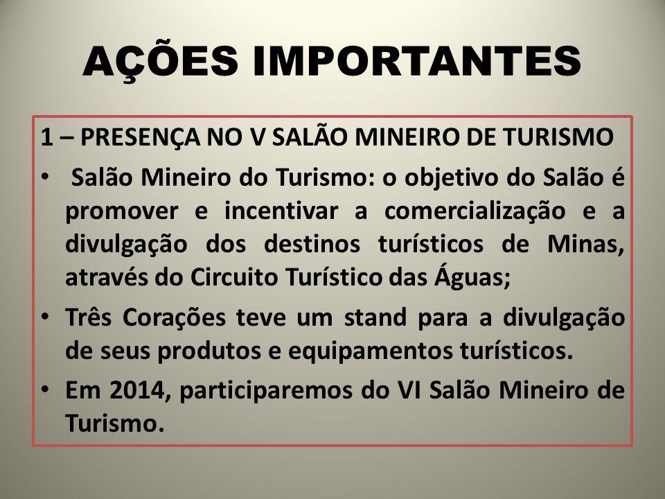 AÇÕES IMPORTANTES 1 – PRESENÇA NO V SALÃO MINEIRO DE TURISMO