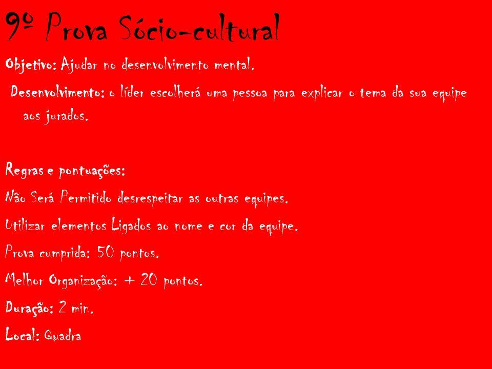 9º Prova Sócio-cultural