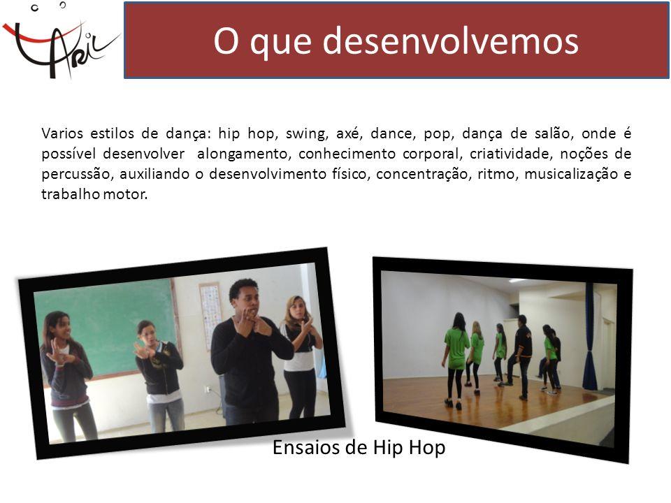 O que desenvolvemos Ensaios de Hip Hop