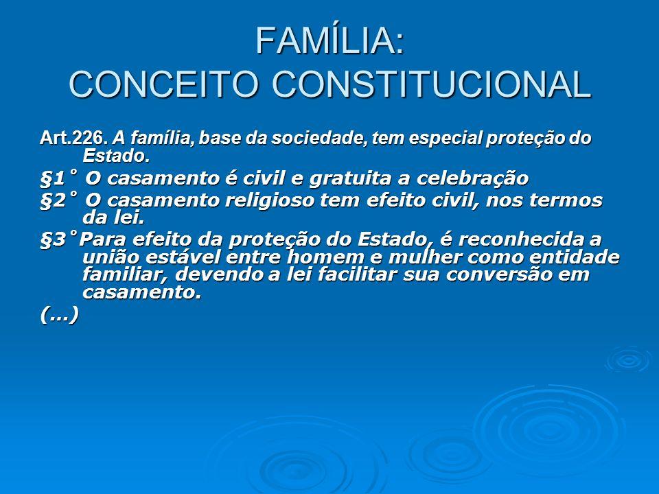 FAMÍLIA: CONCEITO CONSTITUCIONAL