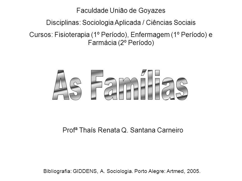 As Famílias Faculdade União de Goyazes