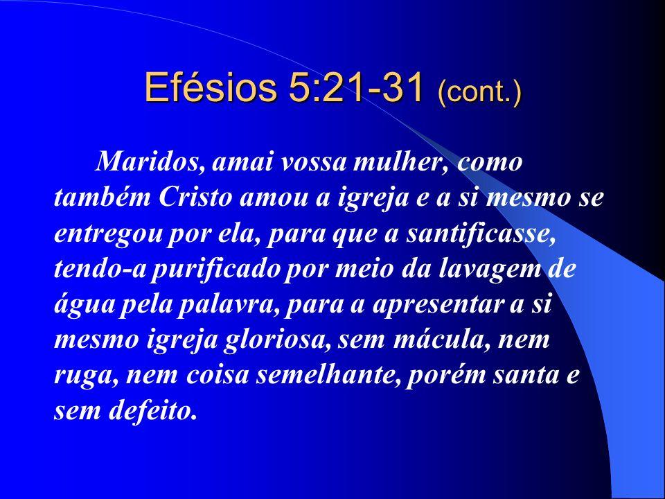 Efésios 5:21-31 (cont.)