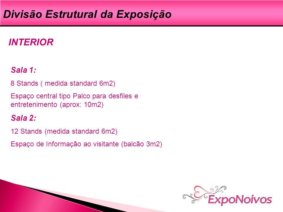 ExpoNoivos Divisão Estrutural da Exposição INTERIOR Sala 1: Sala 2: