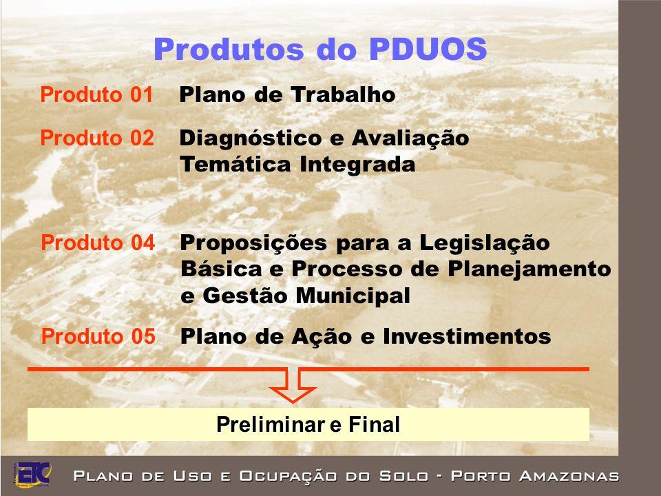 Produtos do PDUOS Produto 01 Plano de Trabalho