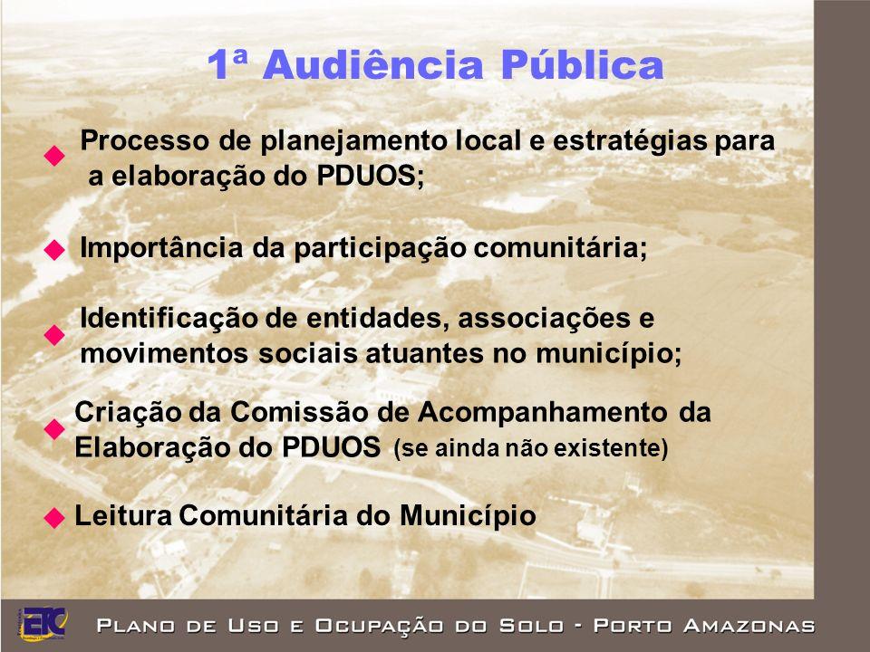 1ª Audiência Pública Processo de planejamento local e estratégias para