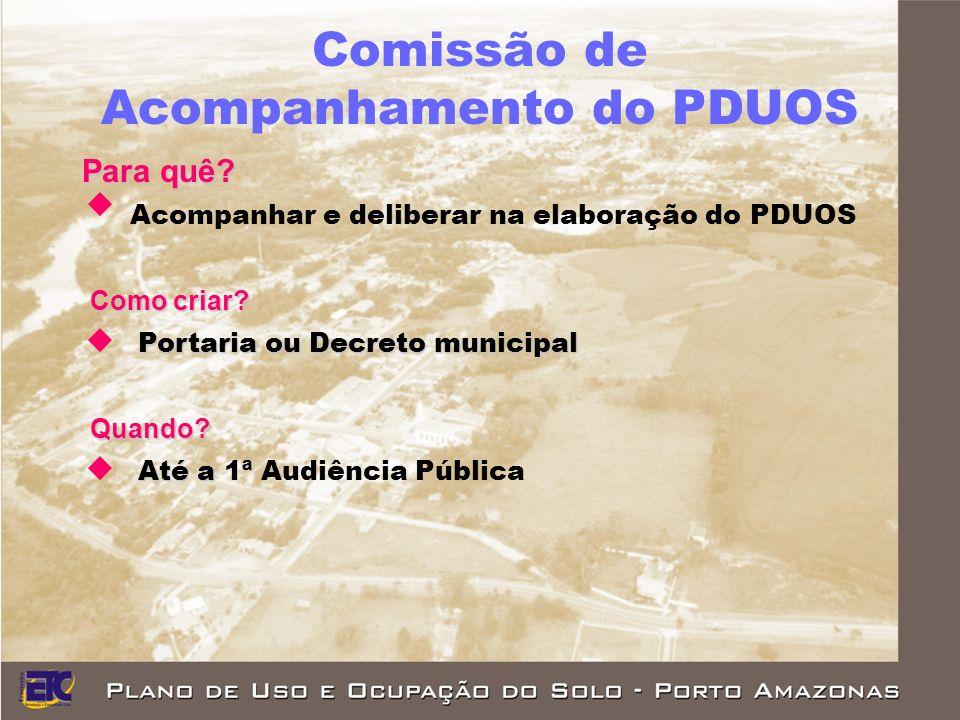 Comissão de Acompanhamento do PDUOS