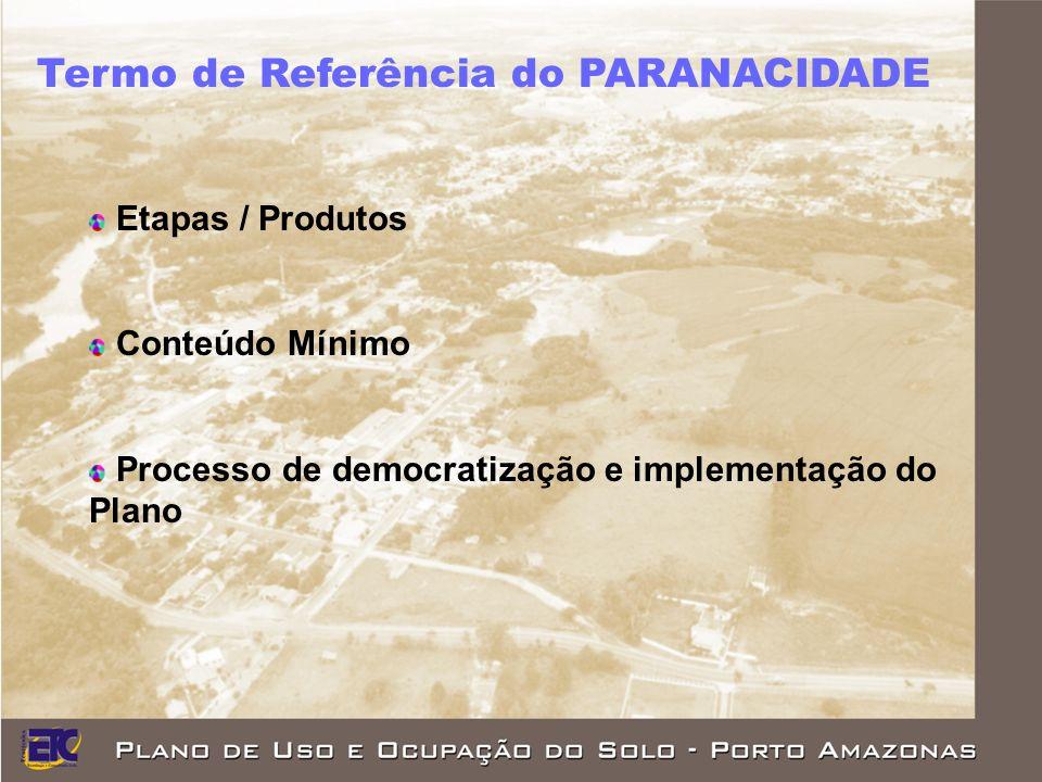 Termo de Referência do PARANACIDADE