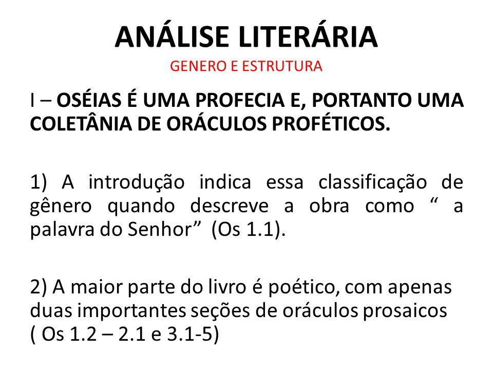 ANÁLISE LITERÁRIA GENERO E ESTRUTURA