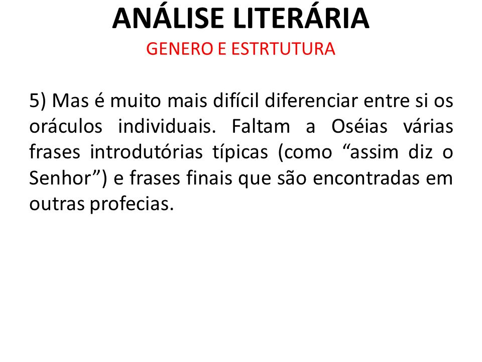ANÁLISE LITERÁRIA GENERO E ESTRTUTURA