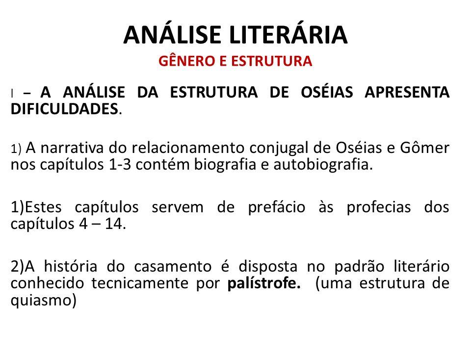 ANÁLISE LITERÁRIA GÊNERO E ESTRUTURA