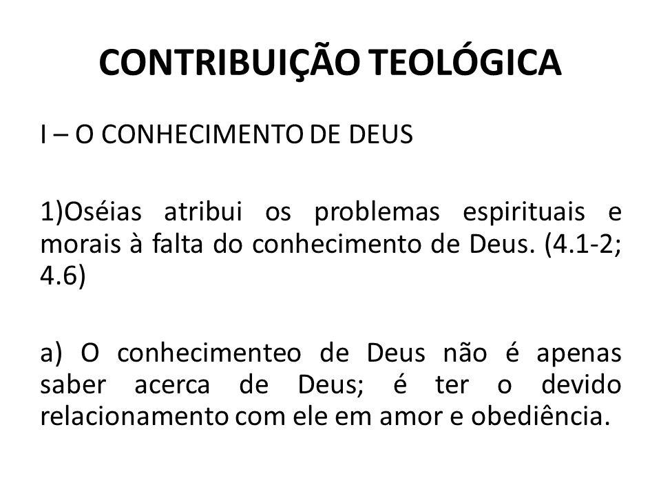 CONTRIBUIÇÃO TEOLÓGICA