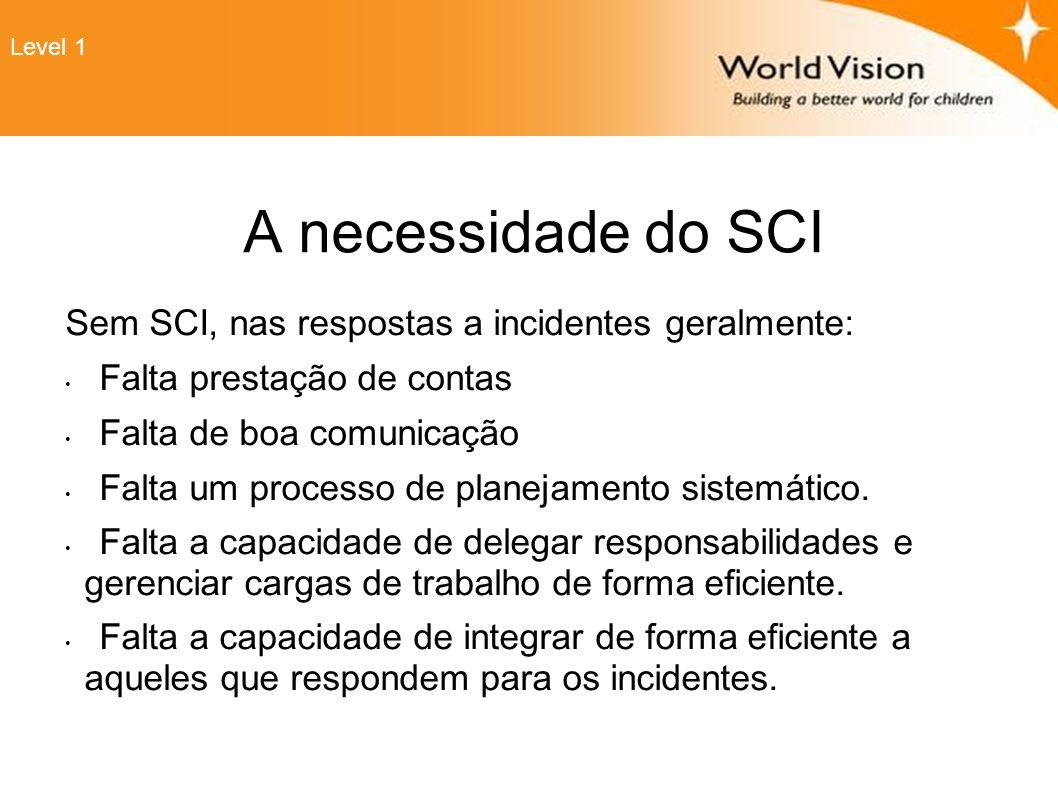 A necessidade do SCI Sem SCI, nas respostas a incidentes geralmente: