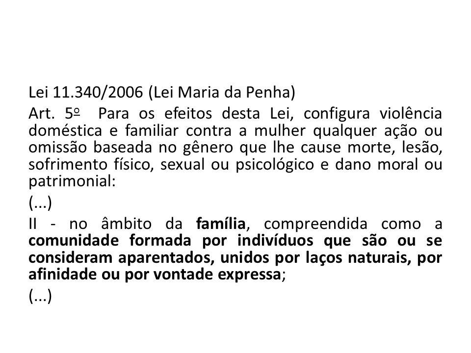 Lei 11. 340/2006 (Lei Maria da Penha) Art