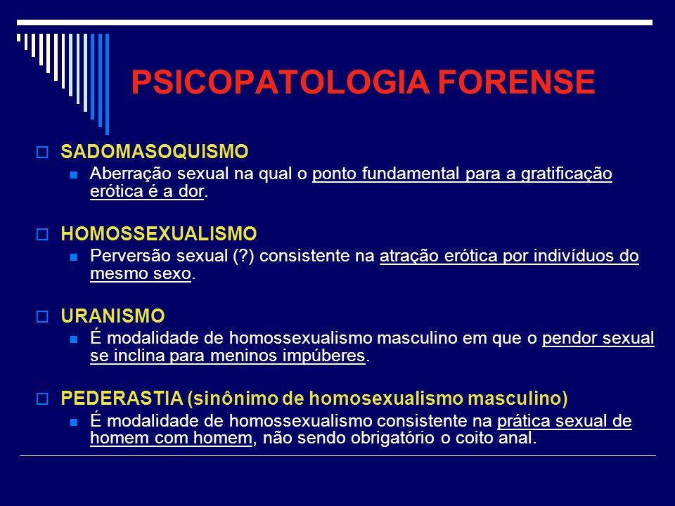 PSICOPATOLOGIA FORENSE