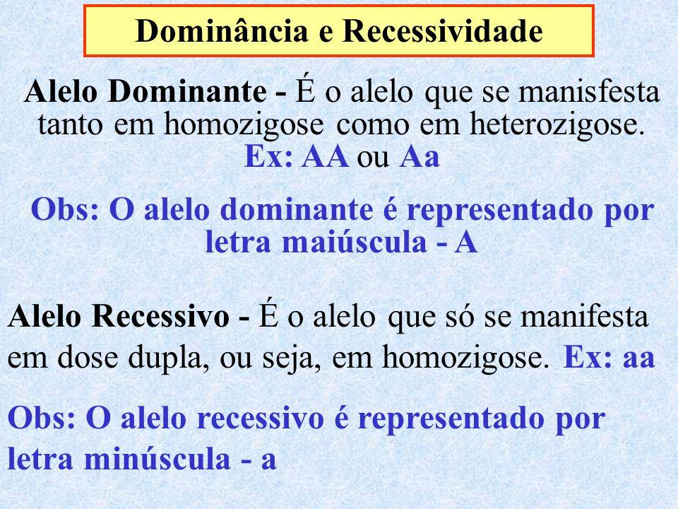 Dominância e Recessividade
