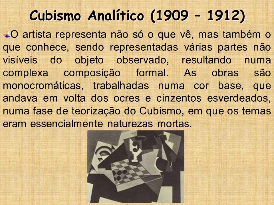 Cubismo Analítico (1909 – 1912)