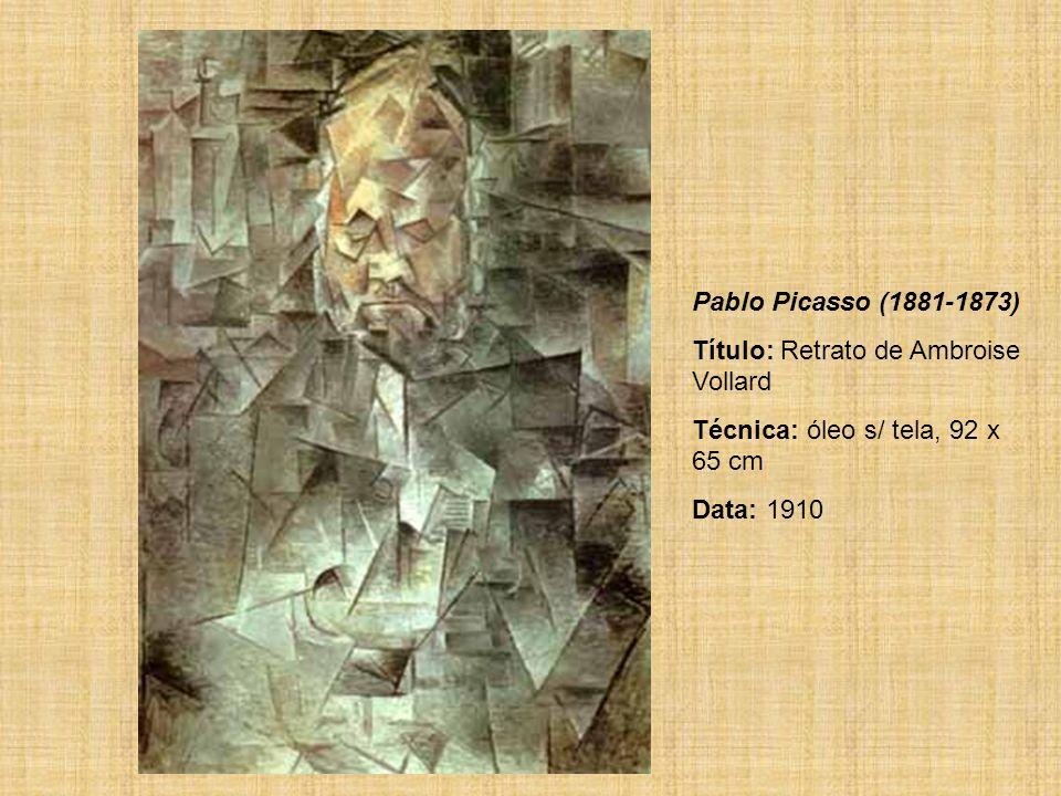 Pablo Picasso (1881-1873) Título: Retrato de Ambroise Vollard.