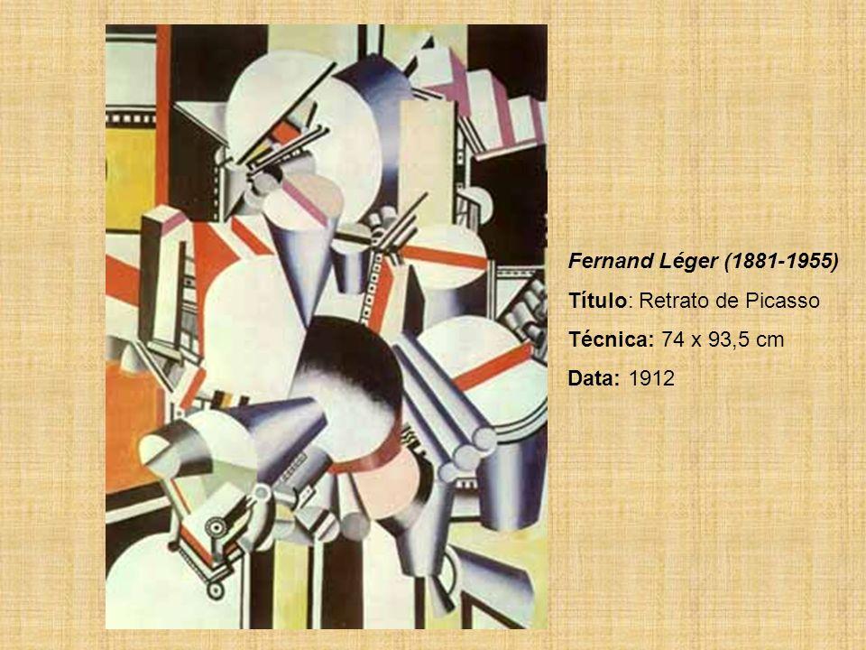 Fernand Léger (1881-1955) Título: Retrato de Picasso Técnica: 74 x 93,5 cm Data: 1912