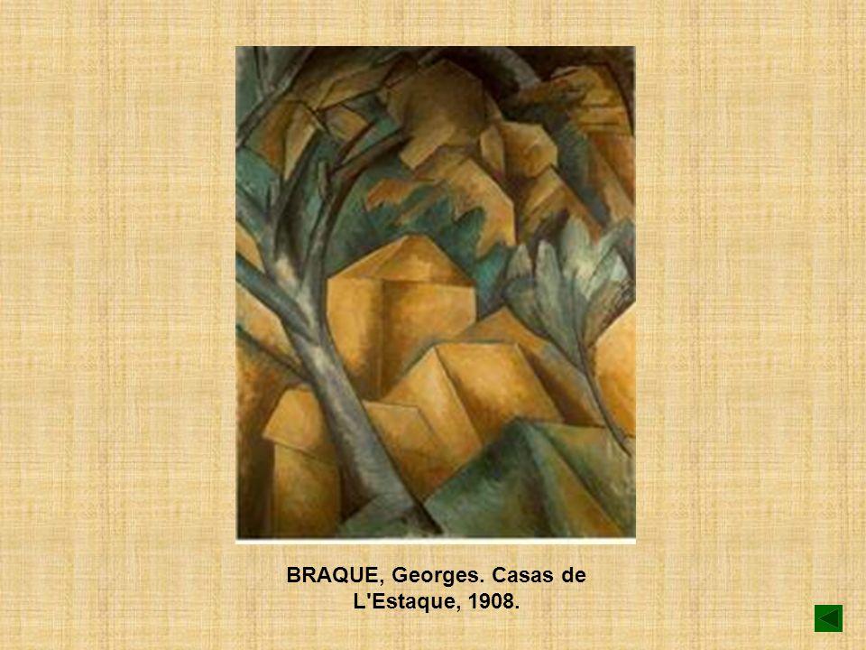 BRAQUE, Georges. Casas de L Estaque, 1908.