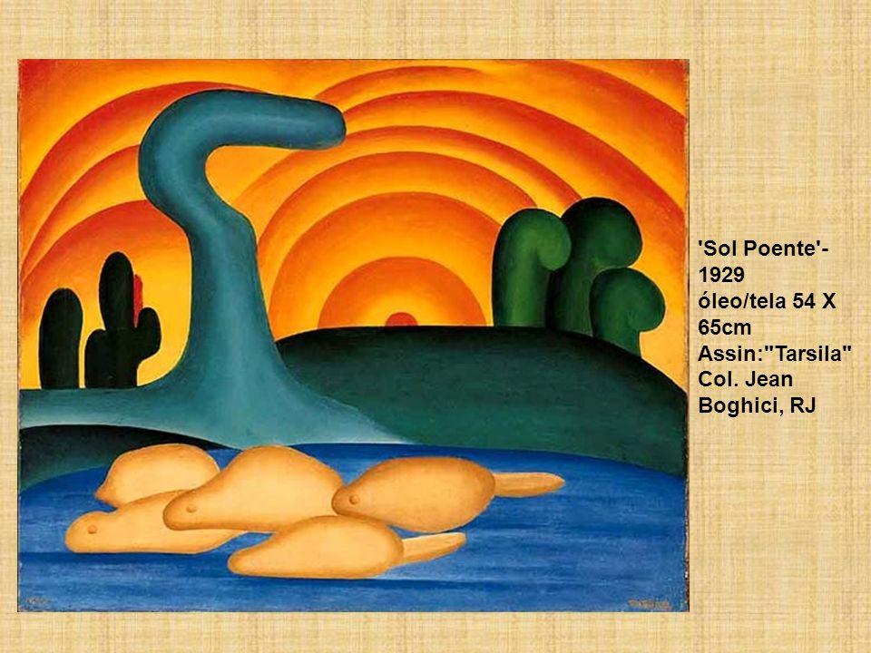 Sol Poente -1929 óleo/tela 54 X 65cm Assin: Tarsila Col