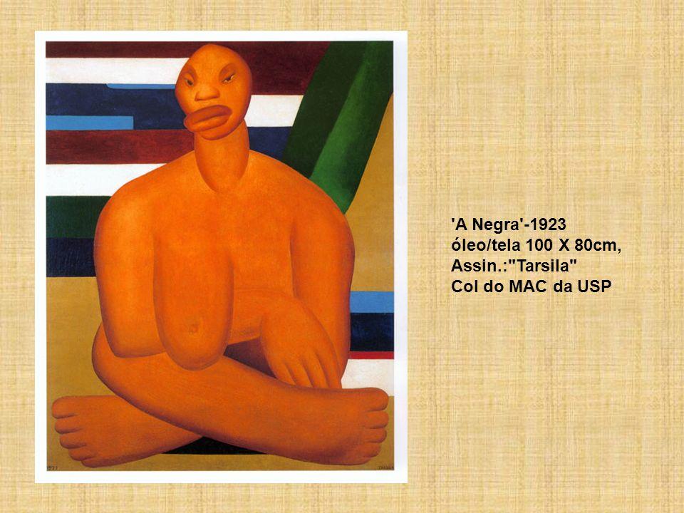 A Negra -1923 óleo/tela 100 X 80cm, Assin