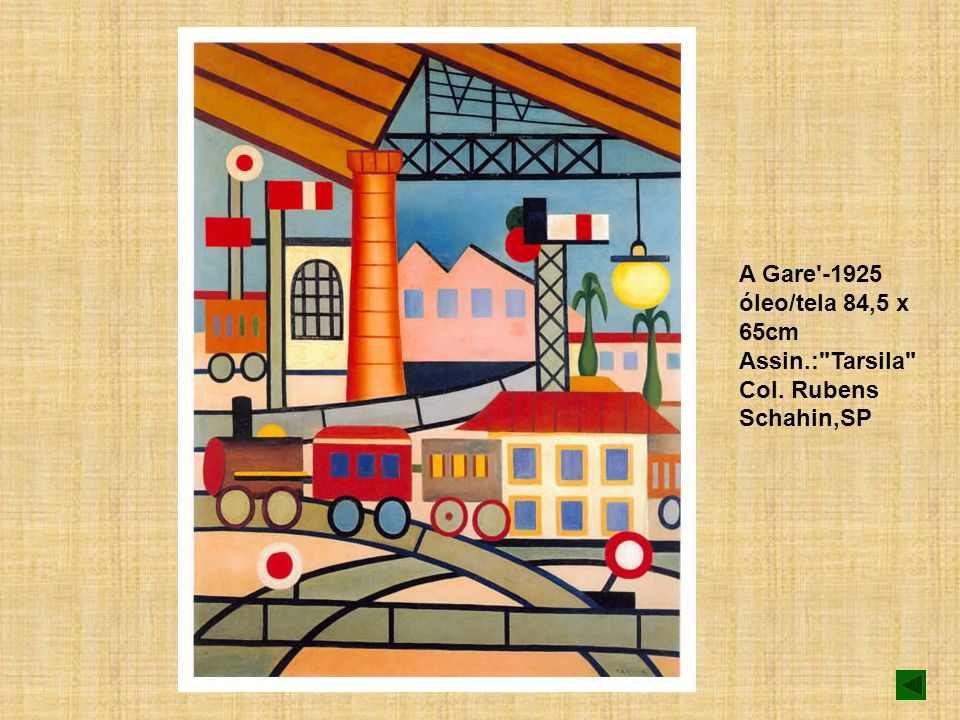 A Gare -1925 óleo/tela 84,5 x 65cm Assin. : Tarsila Col