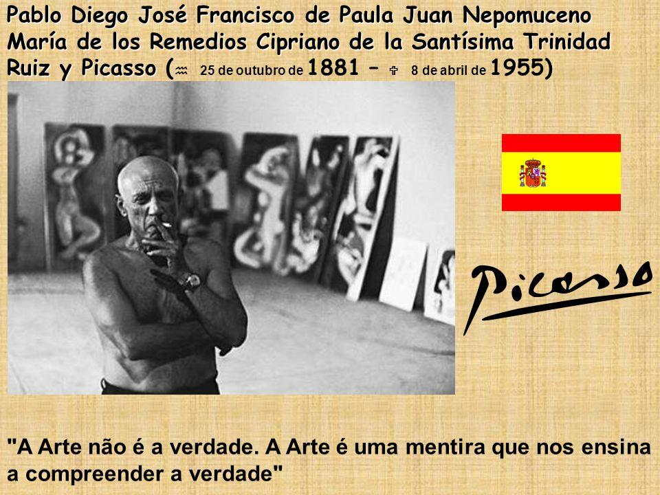 Pablo Diego José Francisco de Paula Juan Nepomuceno María de los Remedios Cipriano de la Santísima Trinidad Ruiz y Picasso (h 25 de outubro de 1881 – U 8 de abril de 1955)