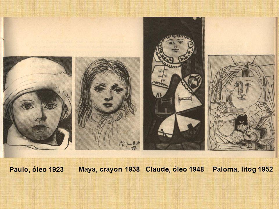 Paulo, óleo 1923 Maya, crayon 1938 Claude, óleo 1948 Paloma, litog 1952