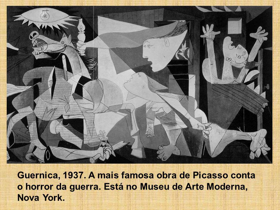 Guernica, 1937. A mais famosa obra de Picasso conta o horror da guerra