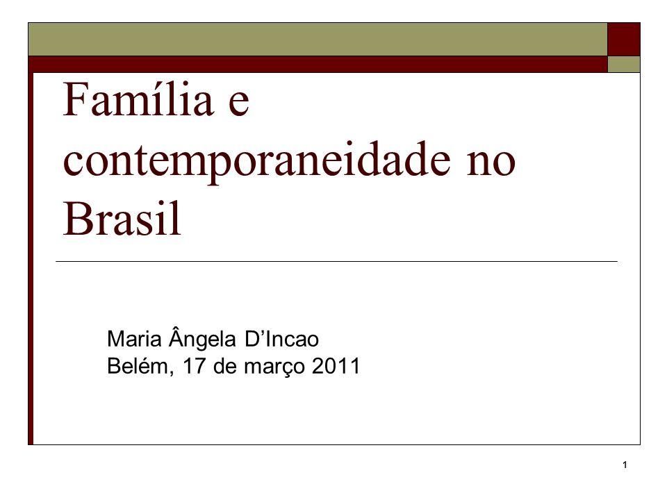 Família e contemporaneidade no Brasil