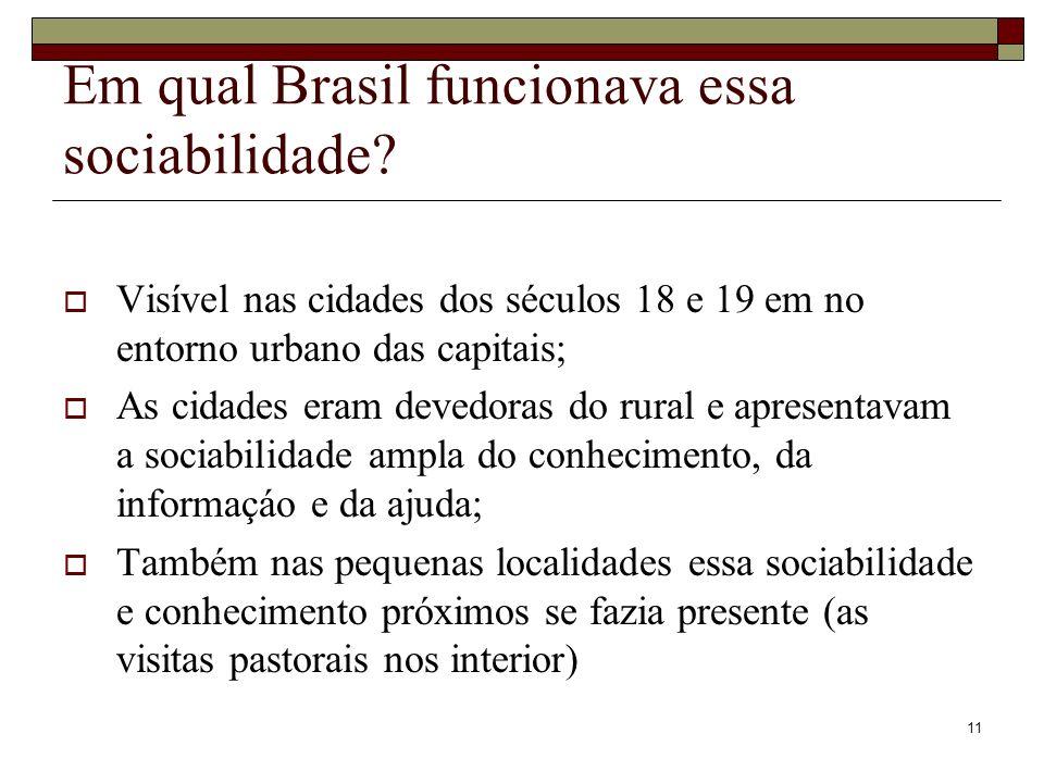 Em qual Brasil funcionava essa sociabilidade