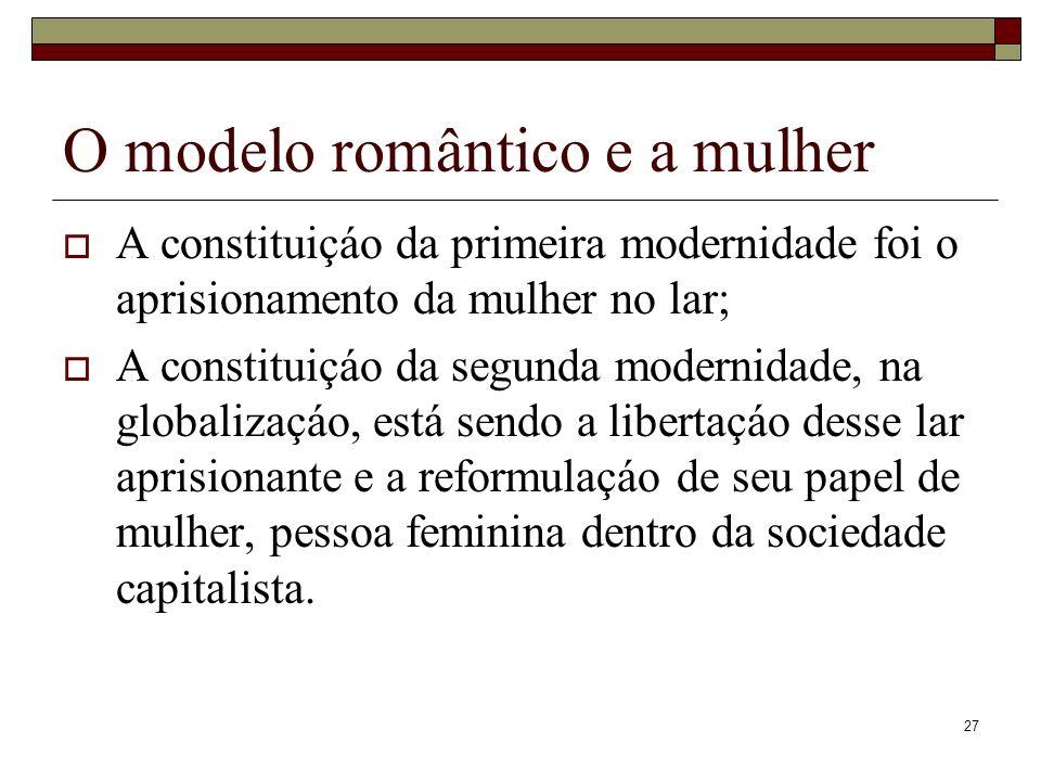 O modelo romântico e a mulher