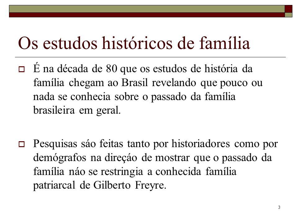 Os estudos históricos de família