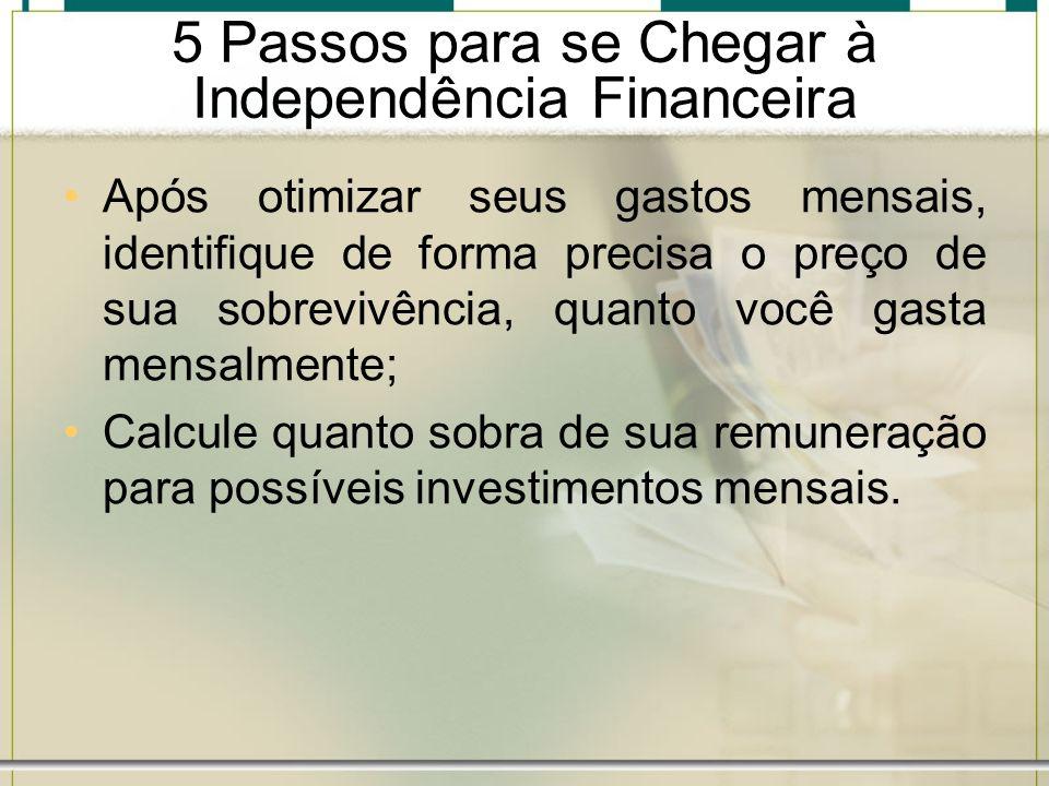 5 Passos para se Chegar à Independência Financeira