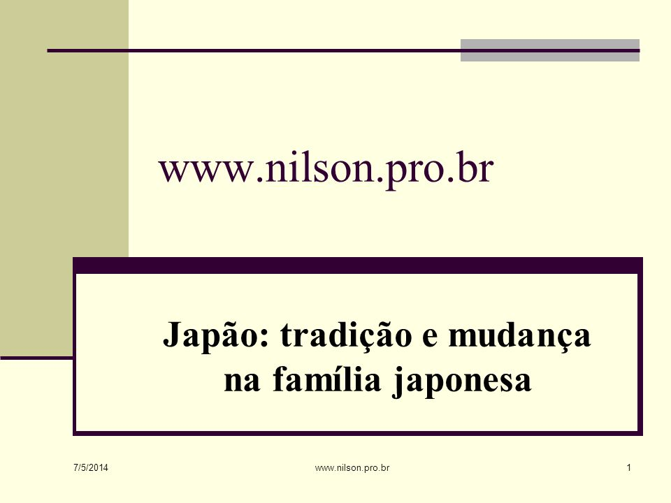 Japão: tradição e mudança na família japonesa