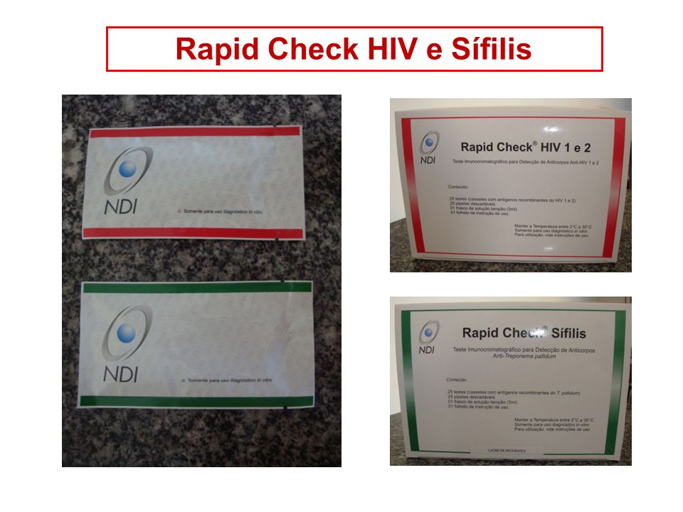 Rapid Check HIV e Sífilis