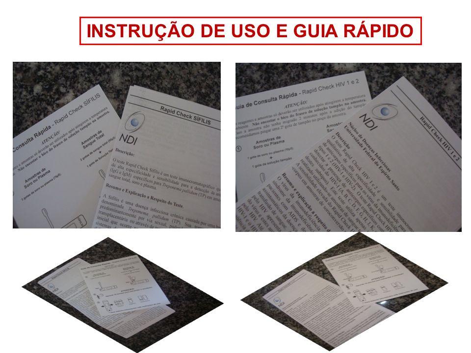 INSTRUÇÃO DE USO E GUIA RÁPIDO