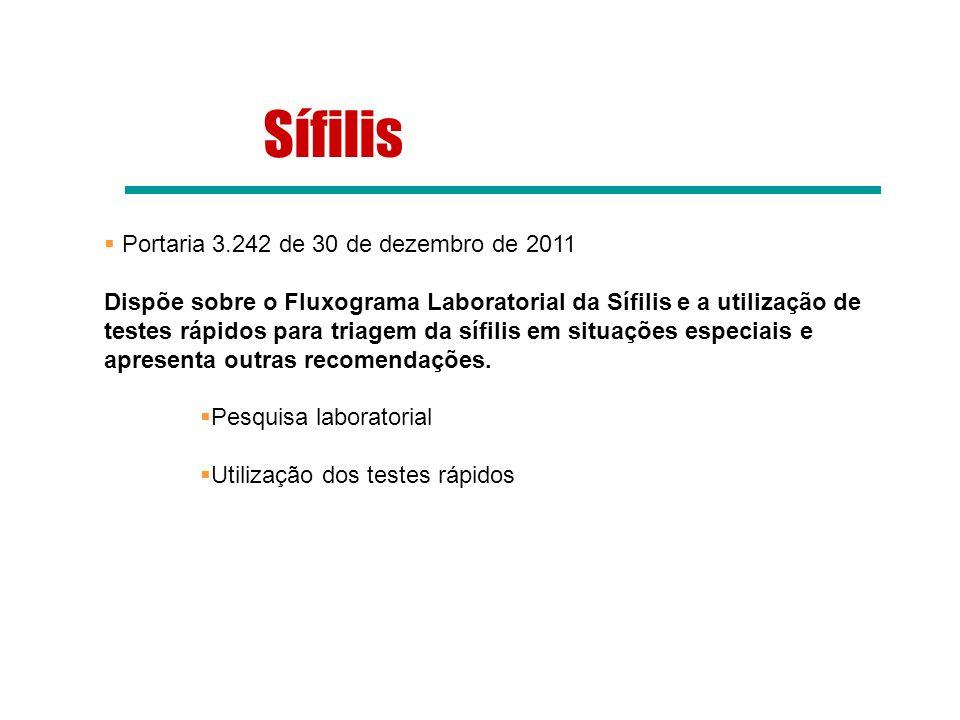 Sífilis Portaria 3.242 de 30 de dezembro de 2011