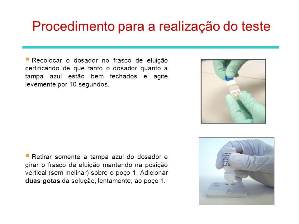 Procedimento para a realização do teste