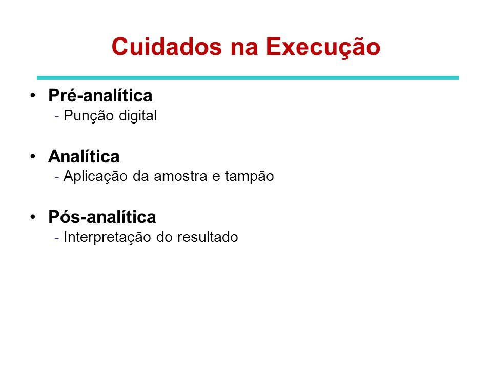 Cuidados na Execução Pré-analítica Analítica Pós-analítica