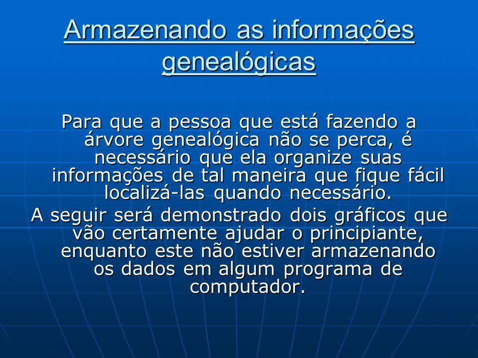 Armazenando as informações genealógicas