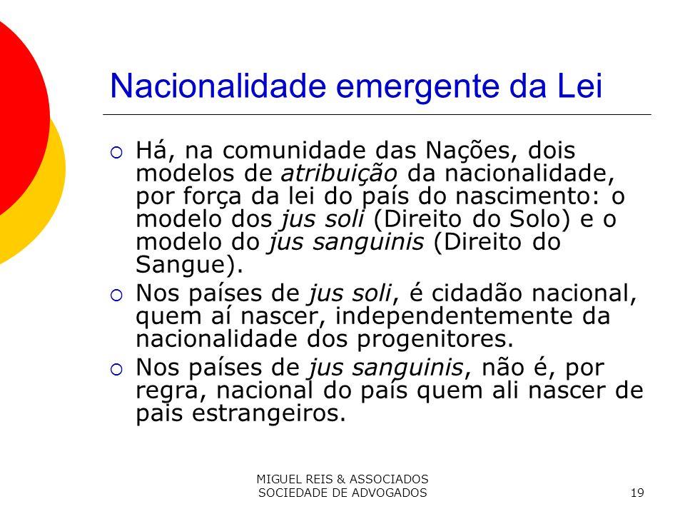Nacionalidade emergente da Lei