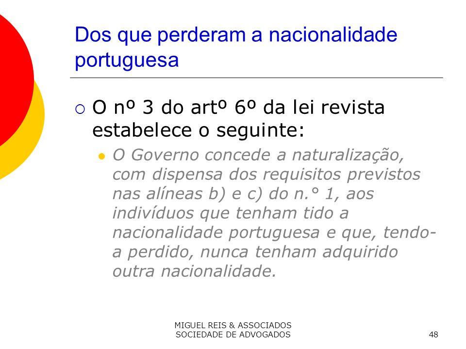 Dos que perderam a nacionalidade portuguesa