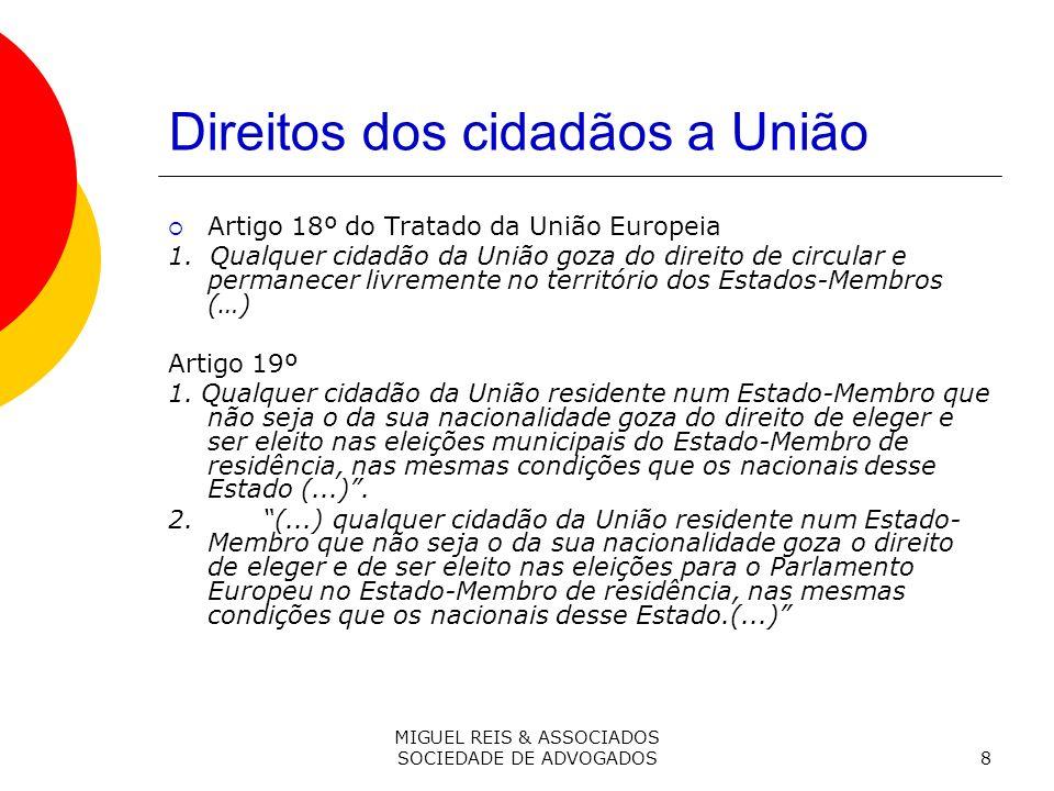 Direitos dos cidadãos a União