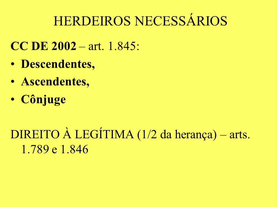 HERDEIROS NECESSÁRIOS