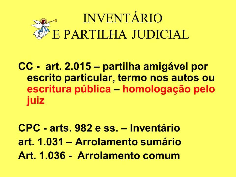 INVENTÁRIO E PARTILHA JUDICIAL