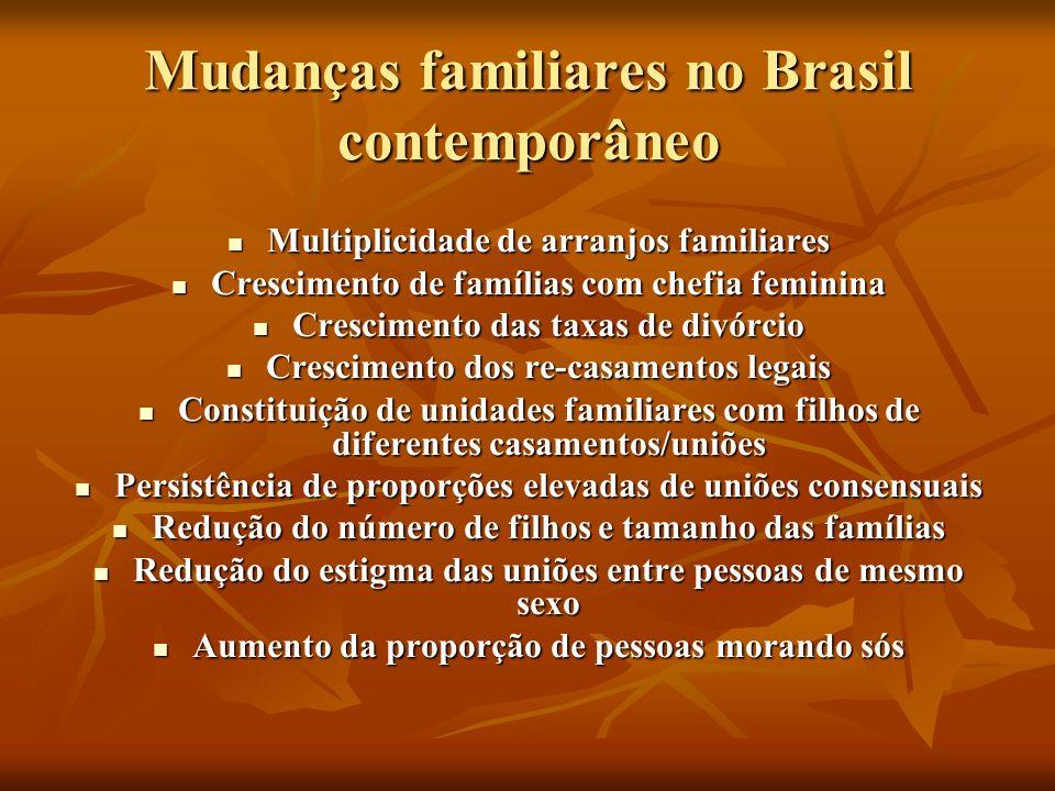 Mudanças familiares no Brasil contemporâneo