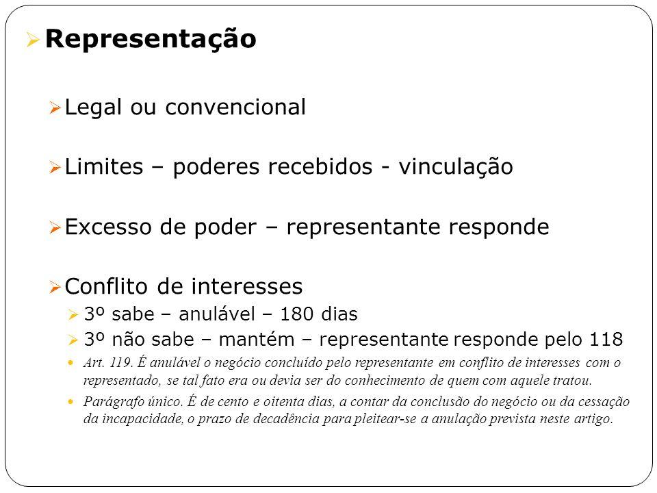 Representação Legal ou convencional