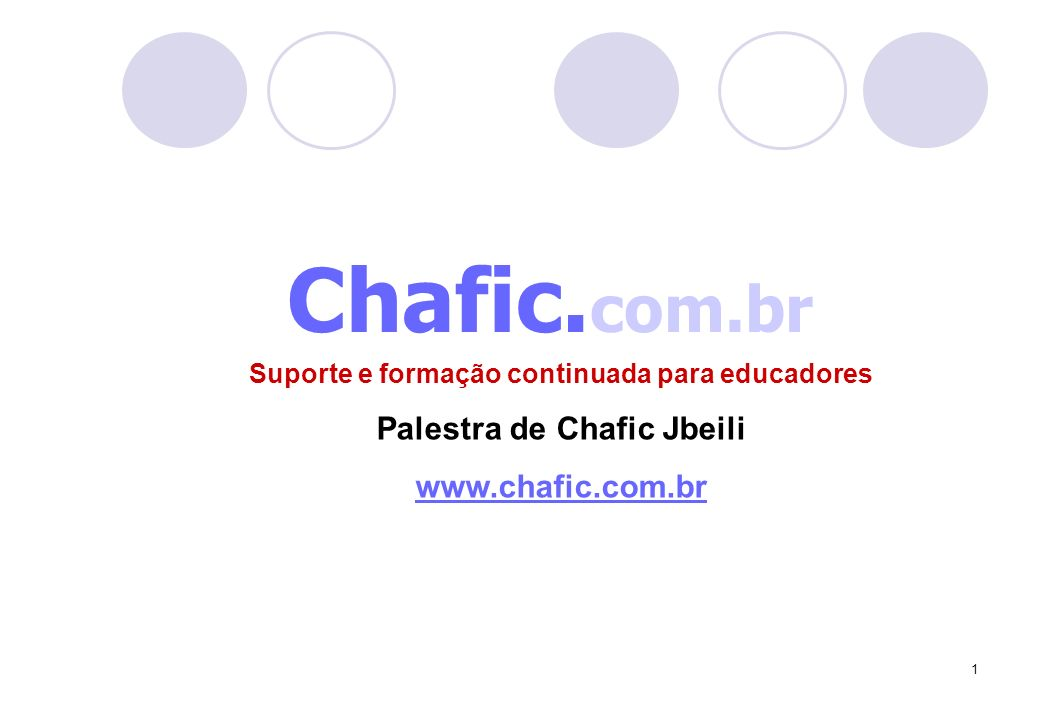 Chafic.com.br Palestra de Chafic Jbeili www.chafic.com.br