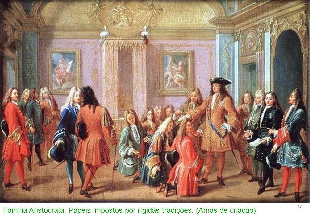 Família Aristocrata: Papéis impostos por rígidas tradições
